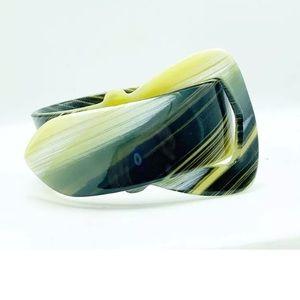 Art Deco celluloid bangle buckle bracelet